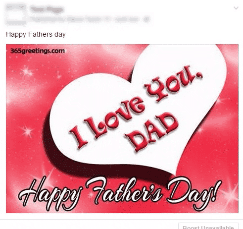 Bad Father's Day Post
