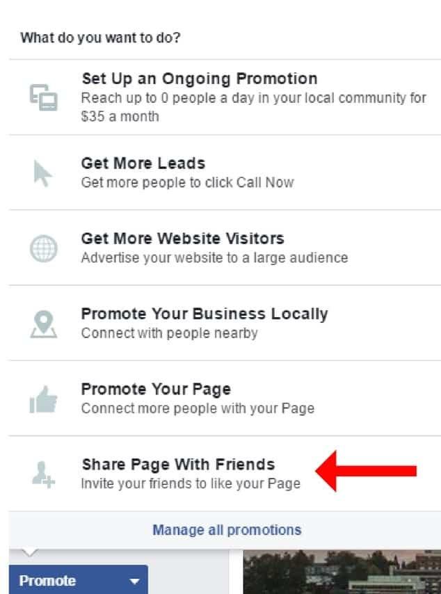 "Step 4: Select ""Search All Friends"" & choose friends who will receive an invite to ""like"" the business page"