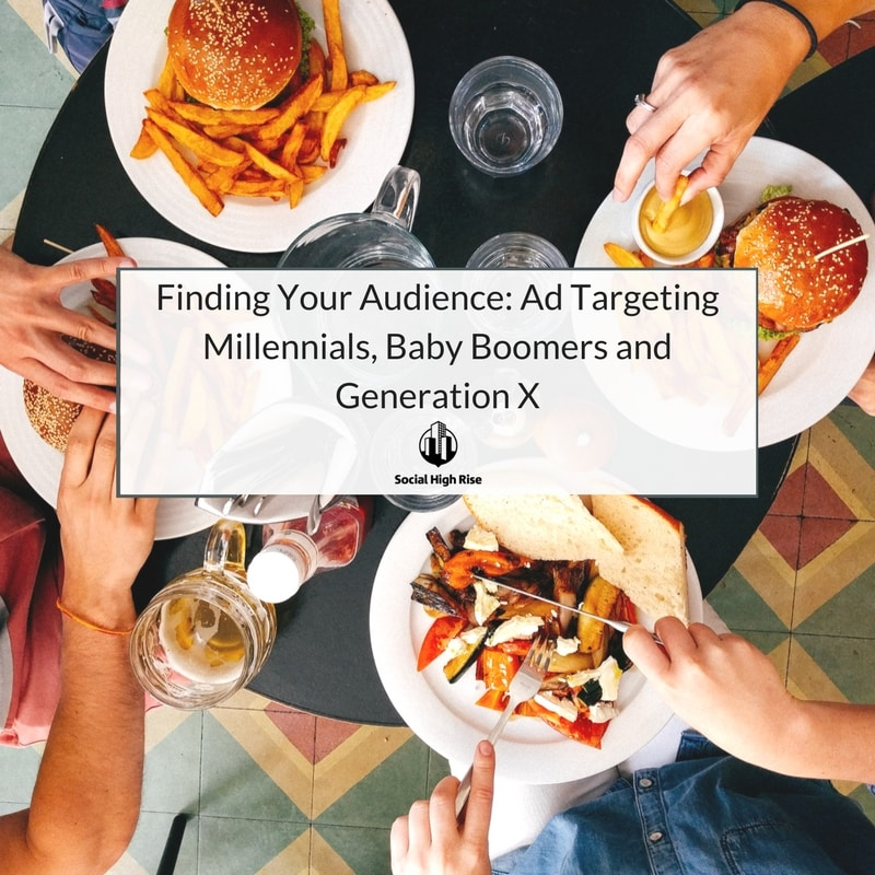 Ad targeting millennials, baby boomers, and generation x