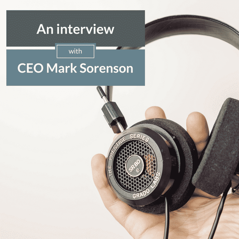 interview with ceo mark sorenson