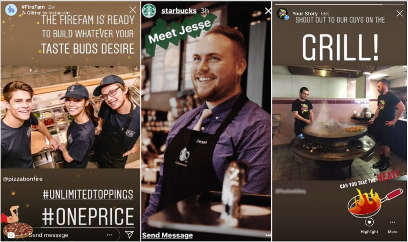 Introduce your staff through Instagram Stories